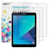 SOCU Displayschutz für Samsung Galaxy Tab S3, 3 x Displayschutzfolie Samsung Galaxy Tab S3 Schutzfolie Folie (Tab S3)