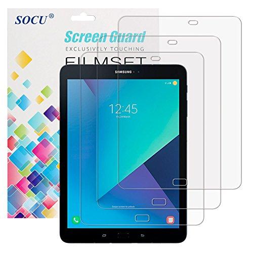 SOCU Bildschirmschutz für Samsung Galaxy Tab S3, 3 x Bildschirmschutzfolie Samsung Galaxy Tab S3 Schutzfolie Folie (Tab S3)