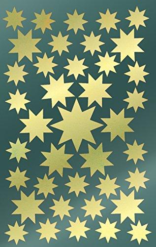 Avery 52804 pegatinas de Navidad, estrellas, papel satinado, 2 hojas, 78 pegatinas,...