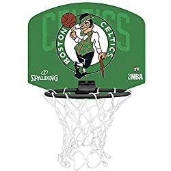 Spalding NBA Boston Celtics Mini canasta de baloncesto, Unisex niños, Verde/Negro, Única