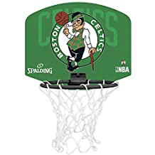 Spalding NBA Boston Celtics Mini canasta de baloncesto, Unisex niños, Verde / Negro, Única