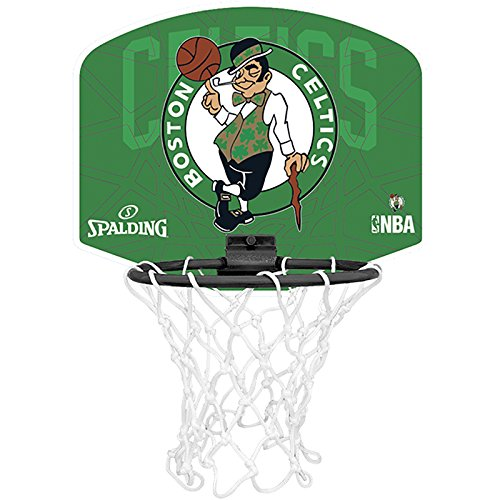 Spalding Miniboard Boston Celtics, Mehrfarbig, One size, 3001588011617 (Kinder-basketball-schlafzimmer-sets)