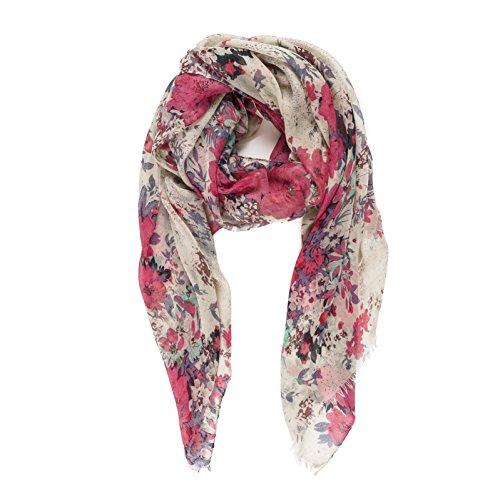 Pañuelo Fulard Bufanda Cuello 100% Viscosa de Mujer Estampado y Diseño Español (P077-3)