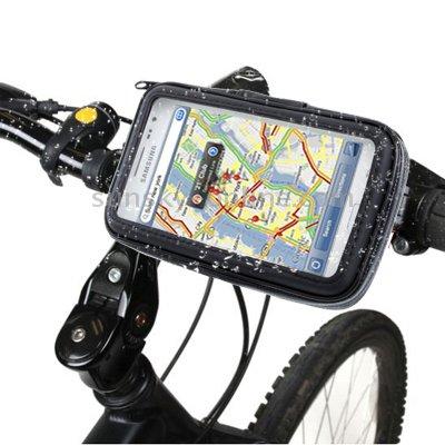 Wasserfeste Fahrradhalterung Bike Fahrrad MTB und Motorrad Halter mit Tasche für Smartphone / Handy ( Huawei Shot X ) (Shot-tasche-ständer)