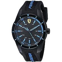 744c28bc1b68 Ferrari Hombre 0830247 redrev analógico Negro Reloj de Cuarzo japonés