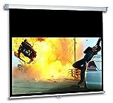 """Schermo Proiezione con bordi manuale a molla 234x135cm 16:9, Telo da Videoproiettore Avvolgibile 244 x 175cm """"Enjoy"""" ottimo per ogni Proiettore 100% Professionale di Qualità Superiore HD!"""