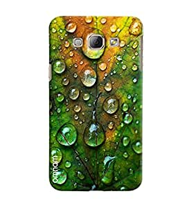 Omnam Water Drops Effect On Leaves Printed Designer Back Cover Case For Samsung Galaxy A8