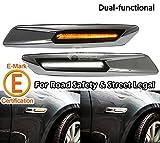 Lampada a segno laterale per stile Dual-Function F10 per BMW E60 E90 E81, luce ultra luminosa a LED, Chrome