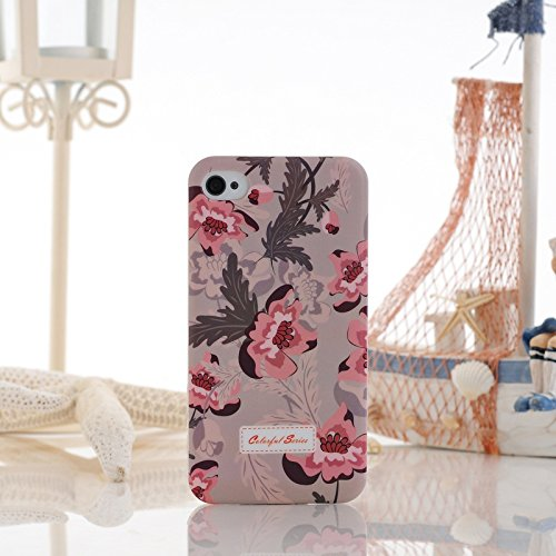 iPhone Case Cover Farbe Malerei Kleine Blumen-harten Plastikkasten-Abdeckung für iPhone 4 4S ( Color : 9 ) 5