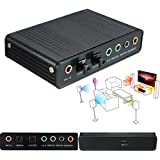 USB 5.1-Kanal Externe optische Audio Soundkarte Adapter für Laptop-Notebook-PC