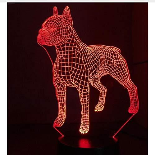 Hundelampe 3D LED NightLight Bulldogge Pudel Jack Russell Terrier Rottweiler Afghane Basset Hound Dobermann Labrador Retriever -