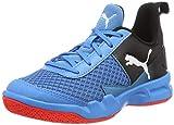 Puma Unisex-Kinder Rise XT 4 JR Multisport Indoor Schuhe, Blau (Bleu Azur-Red Blast Black 04), 39 EU