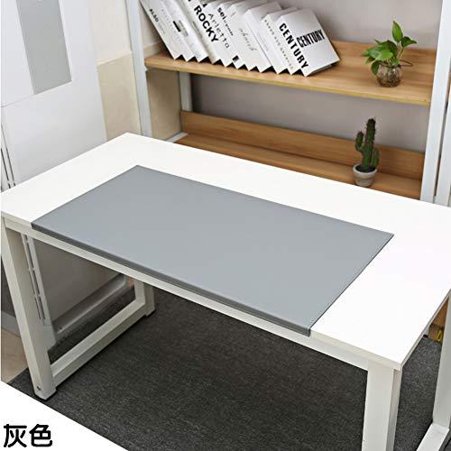 SSOK Cooler fans Pu Kunstleder Office Desk Mausmatte Mit Full Grip Fixation Lip, Tisch Blotter Desk-pad-Protector Wasserdicht Gaming-schreiben Matte-grau 60x40x2cm -