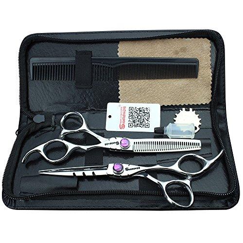 Pelo tijeras japonés 440C tijeras peluquería profesional