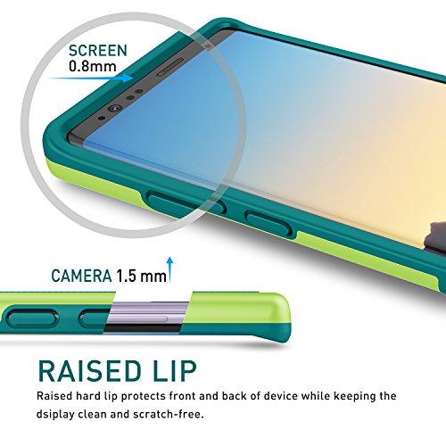 Samsung Galaxy Note 8 Hülle, Han Lucky Star Samsung Note 8 Handyhülle Ultra Dünn Case TPU+PC stoßfest Handytashe mit drei Farben Design Schmutzhülle für Samsung Galaxy Note 8 (Wein Rot) Grün