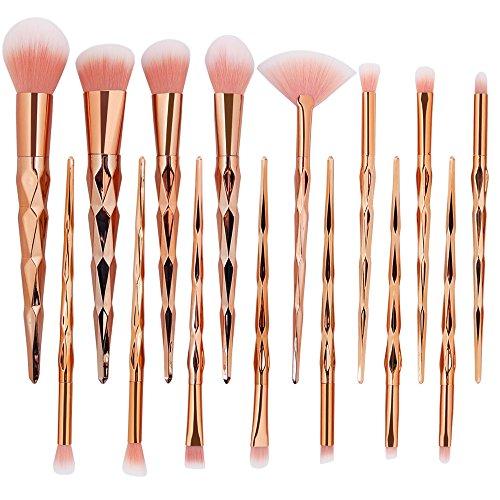 SamMoSon 15 Pieces Professional Kosmetik Pinsel Makeup Augen Pinsel Set Eyeshadow Face Brush Cosmetic Brush Sets & Kits Brush