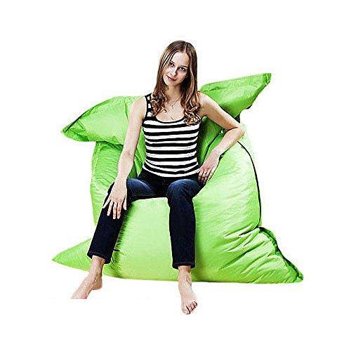 Kingko® Aufblasbare Liege, tragbar Air Betten Schlafen Sofa Couch, für Reisen, Camping, Riesige Sitzsack Kissen Kissen Indoor Outdoor Relax Gaming Gamer Sitzsack (Grün)