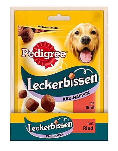 Pedigree Leckerbissen Kau-Happen Hundesnacks Rind, 6er Pack (6 x 130 g)