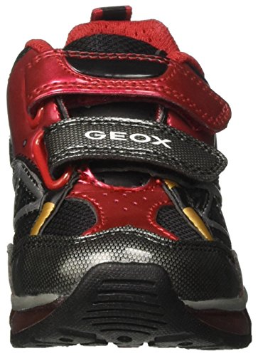 Geox J Android B, Sneakers Basses Garçon Rouge (Red/black)