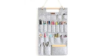Wandaufbewahrung Filz Hängeorganizer für Schreibwaren und bastelwerkzeug LuckySign®
