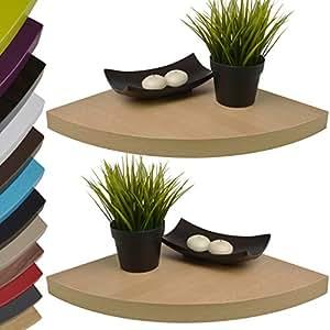 2er set design wandregal frei schwebend mit versteckter. Black Bedroom Furniture Sets. Home Design Ideas