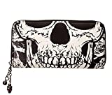 Search : BANNED Clothing Black Wallet Purse SKULL FACE Skeleton Punk Goth Gift