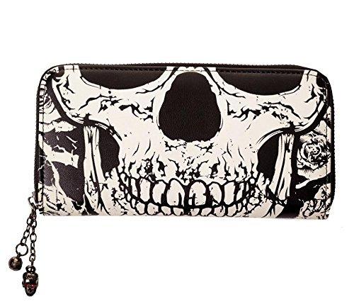 BANNED  portafoglio nero, teschio scheletro Punk, idea regalo