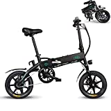 L'AMORE E-Bike Faltrad Klapprad Elektrofahrrad Vorderradmotor 36V/250W, 14 Zoll, elektronisch, Alu-Faltrahmen mit integriertem Akku