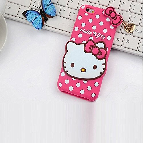 Aloin Cute Hello Kitty Silicone Mobile Phone Back Cover Case For Vivo Y51L (Pink)