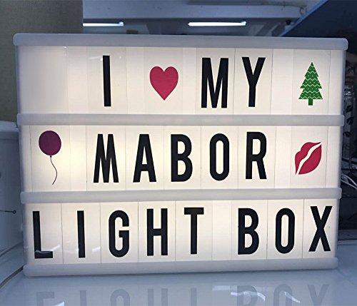 Light Box mit 208 flexiblen Buchstaben A4 Leuchtkasten/lichtkasten 5V USB Anschluss/6x AA Batterie