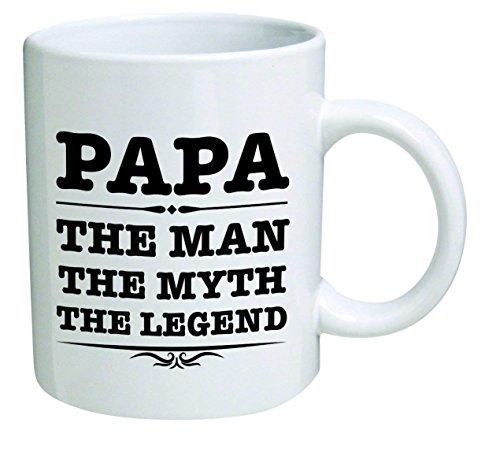 CDJ- Mugs Funny Mug 11OZ - Papa, The Man, The Myth, The Legend - Father's Day Gift Idea for Men, Husband or Grandpa.