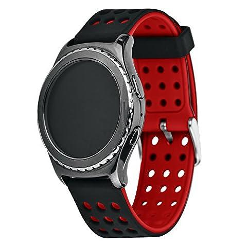 Greatfine Remplacement en Silicone Classic Band Smartwatch Bracelet pour Samsung