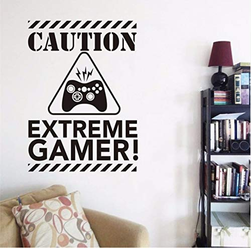 Fushoulu 42X57 Cm Extreme Gamer Wand Videospiele Wandaufkleber Für Kinderzimmer Kinderzimmer Wanddekoration Kunstwand Dekoration Für Kindergarten