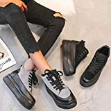 Lailailaily Womens Mixs Fashion Platforms Med Cool Lazy Casual Lace Up Winter Shoes