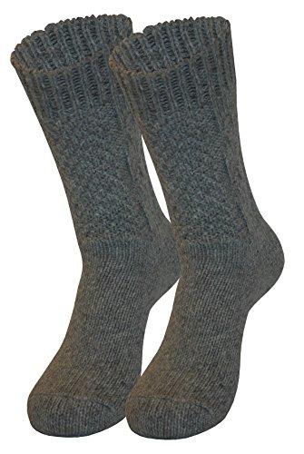 Tobeni 1 Paar Trachten Socken zu Dirndl und Lederhosen in verschiedenen Designs für Damen und Herren, Farbe:Zopf Grau;Größe:35-38