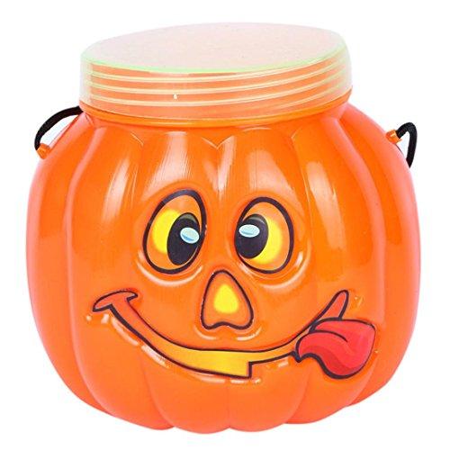arty Verein Pumpkin Eimer Bottle Box Candy Tank Family Children Decorative Box Halloween-Kürbis Keksdose Kind tragbar (Halloween Candy Eimer)
