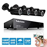 Tekvision® 8CH 1200TVL 720P HD DVR Security Camera Outdoor Surveillance System Kits with 4 Pack Day&Night IR Cut CCTV Bullet Cameras (No HDD Hard Disk included)