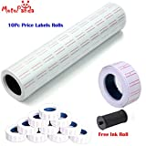 #5: MotoPanda Price Labels Paper Tag Mark Sticker for MX-5500 Price Gun Labeller, 10 Rolls with FREE Ink