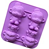 Scimmia In Silicone Stampo Fondente Decorazione Del Dolce Ghiaccio Teglia Stampo Per Cioccolatini Per I Bambini Ragazzi