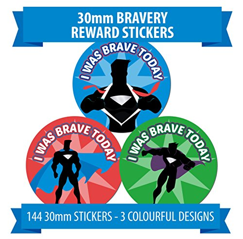 i-was-brave-today-hero-theme-144-reward-stickers-bravery-accident-labels