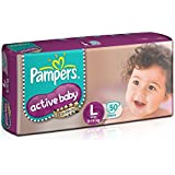 Pampers Active Baby Diapers, Large (50 Count)