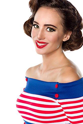 Belsira - Camicia -  donna Blu/Bianco/Rosso