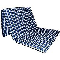 "Sleepinns 2.2 Inches Three Fold Single Size Foam Mattresses (72"" X 35"" X 2.2"",Checkered)"