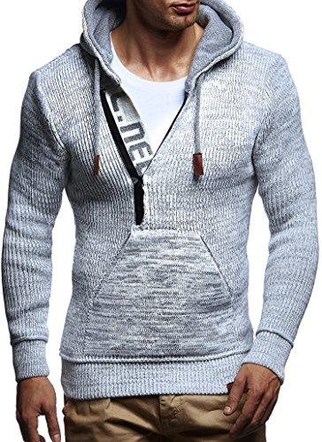 LEIF NELSON Herren Kapuzenpullover Pullover Hoodie Strickpullover Sweatshirt Sweater mit Kapuzen LN5450