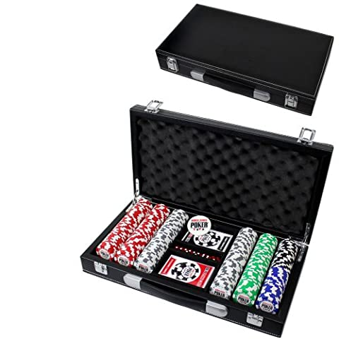 World Series Of Poker Chips 300pc Set with Leather Case