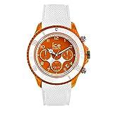 Ice-Watch - Ice Dune White Orange Red - Montre Blanche pour Homme avec Bracelet en...