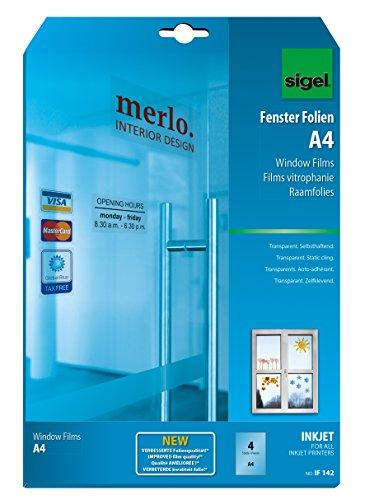 sigel-if142-films-fenetre-jet-dencre-autocollants-repositionnables-a4-transparents