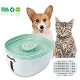 Pet-U Trinkbrunnen für Katze und Hund 2.2 Liter Automatischer Haustier Wasserbrunnen mit Filter Wasserspender Hunde und Katzen freundlich