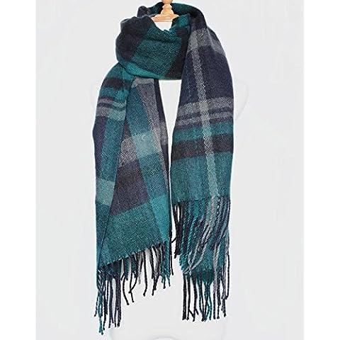 Autunno e inverno Plaid sciarpa scialle di cachemire intorno sciarpa sfrangiata ispessito di portafoglio . 1