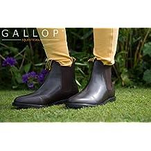 Gallop–marrón Classic piel Jodhpur botas, negro